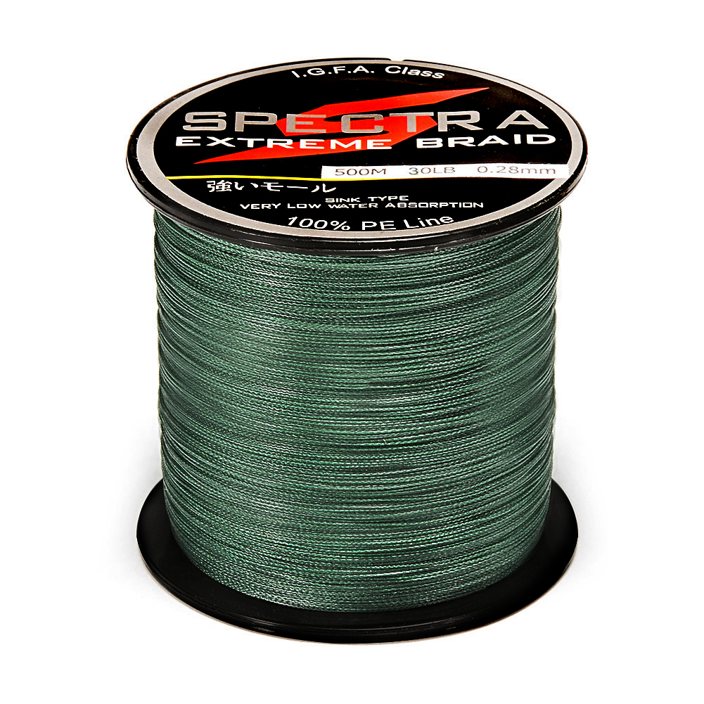 5000M 20LB Test Moss 0.23mm Test 100/% PE Braided Fishing Line Blackish green US